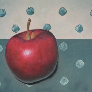 (CreativeWork) An Apple A Day.... by Jacqueline Briner. oil-painting. Shop online at Bluethumb.