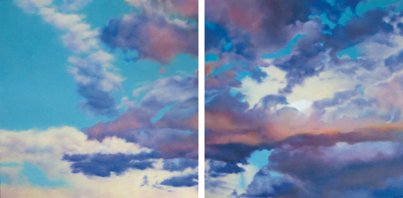 (CreativeWork) The Sky's The Limit by Jacqueline Briner. oil-painting. Shop online at Bluethumb.