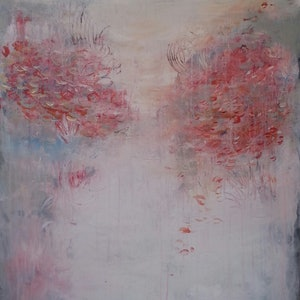 (CreativeWork) Coral Trees by Andrea Edwards. arcylic-painting. Shop online at Bluethumb.