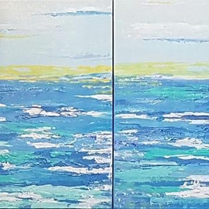 (CreativeWork) Deep Ocean by Judi Goodwin. acrylic-painting. Shop online at Bluethumb.