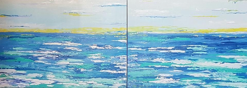 (CreativeWork) Deep Ocean by Judi Goodwin. arcylic-painting. Shop online at Bluethumb.