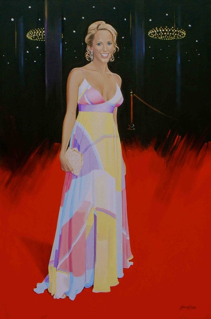 (CreativeWork) Rebecca Hewitt by Lance Ross. oil-painting. Shop online at Bluethumb.
