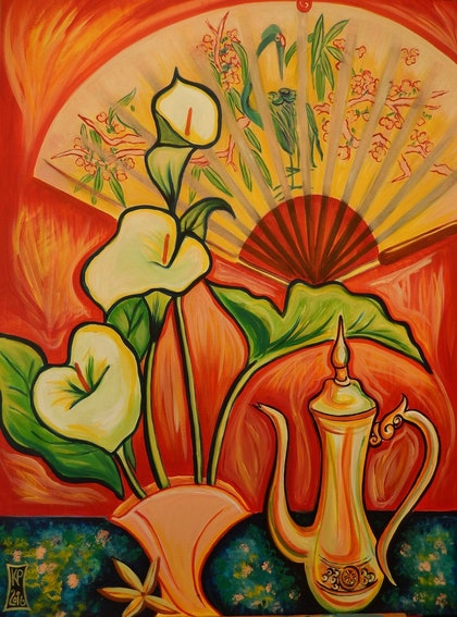 (CreativeWork) Exotica by Kathryn Pentecost. arcylic-painting. Shop online at Bluethumb.