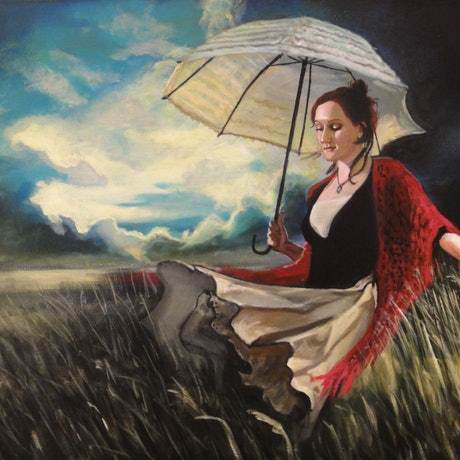 (CreativeWork) Storm Carnivale # 2: The Field by Ross Morgan. Acrylic Paint. Shop online at Bluethumb.