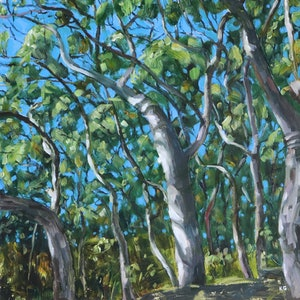 (CreativeWork) Dappled Light Study 1 by Kate Gradwell - Landscapes. oil-painting. Shop online at Bluethumb.