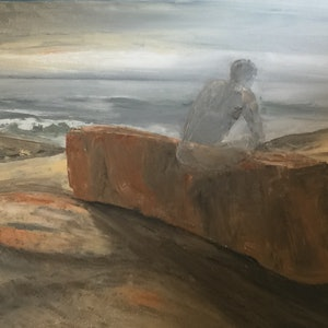 (CreativeWork) Petrified by Warren Lee. oil-painting. Shop online at Bluethumb.