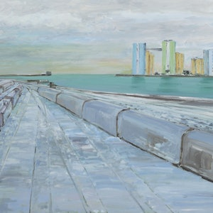 (CreativeWork) Baltic Port by David McLeod. oil-painting. Shop online at Bluethumb.