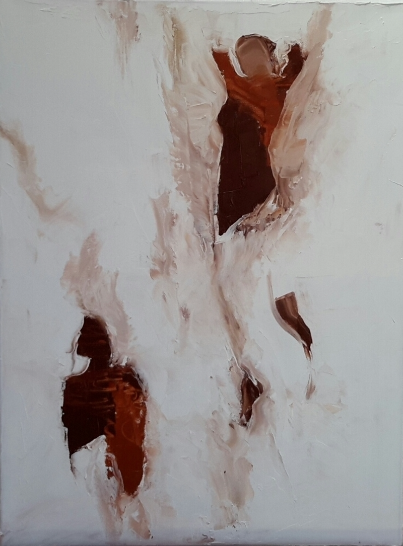 (CreativeWork) Falling  by Dawn Lim. oil-painting. Shop online at Bluethumb.