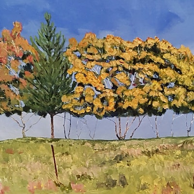 (CreativeWork) Lonely Summit  by David Foster. Acrylic Paint. Shop online at Bluethumb.