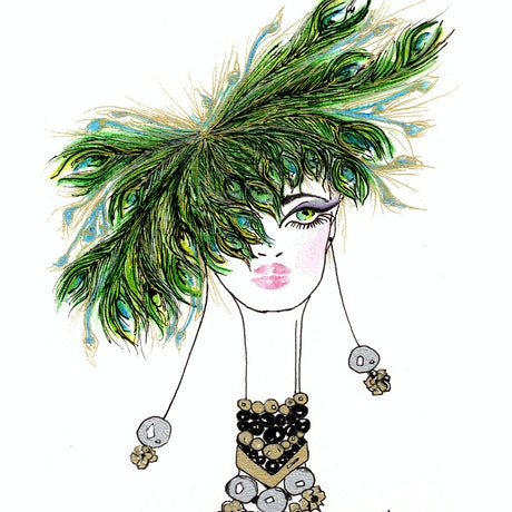 (CreativeWork) Peacock Extravaganza  by BaleaRaitz Lorena. Print. Shop online at Bluethumb.