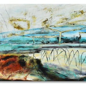 (CreativeWork) Billabong by Steve Fitz. oil-painting. Shop online at Bluethumb.
