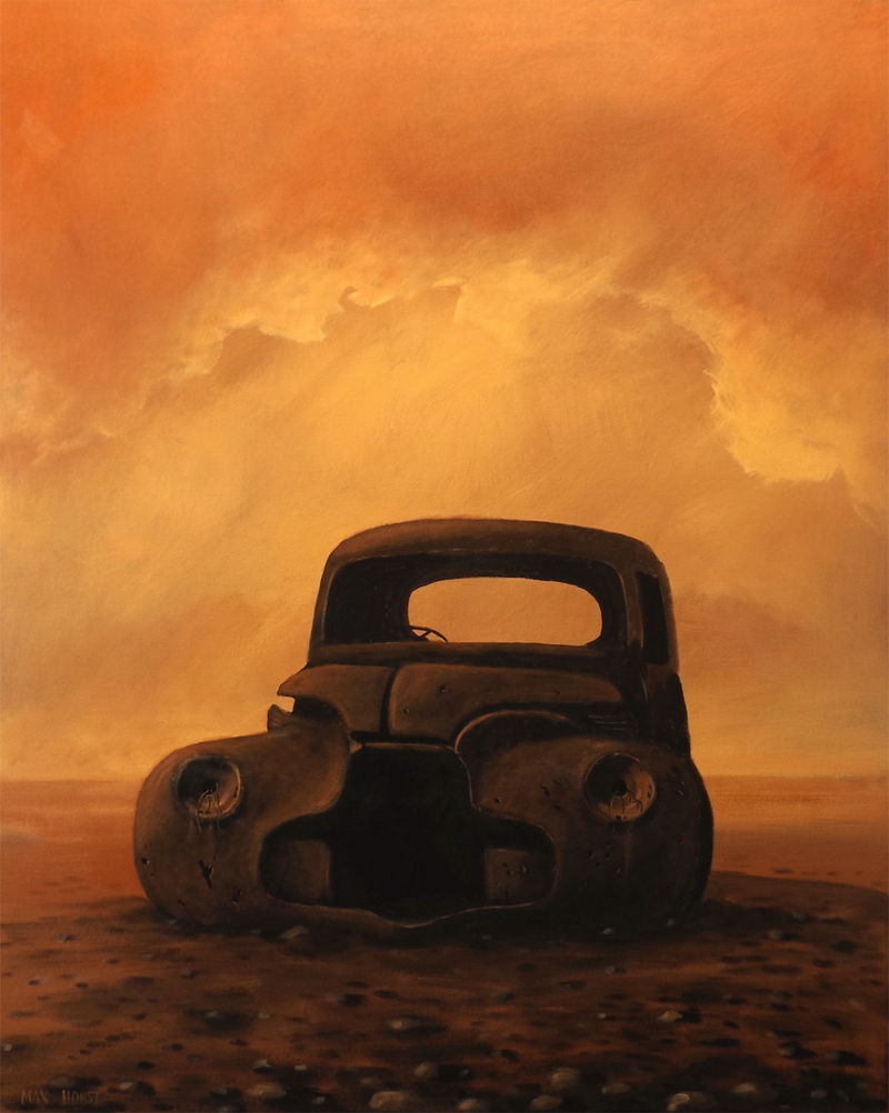 (CreativeWork) Rust and dust by Max Horst  Sokolowski. acrylic-painting. Shop online at Bluethumb.