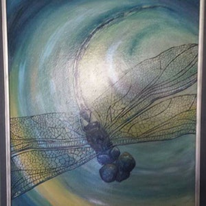 (CreativeWork) Dragonfly  by Krysten Taprell. mixed-media. Shop online at Bluethumb.