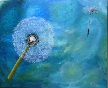 (CreativeWork) Wish by Krysten Taprell. arcylic-painting. Shop online at Bluethumb.