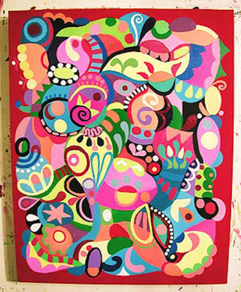 abstract color explosion made to order commissioned custom art