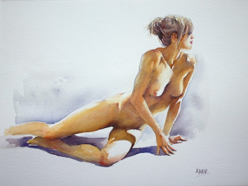 (CreativeWork) 'Play of Light' by Pauline Adair. watercolour. Shop online at Bluethumb.