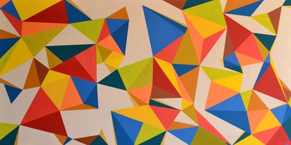 (CreativeWork) Geo One by Hayley SHAW. arcylic-painting. Shop online at Bluethumb.