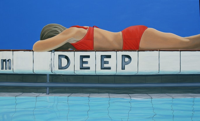 (CreativeWork) The Deep End by Margaret Ingles. Oil Paint. Shop online at Bluethumb.
