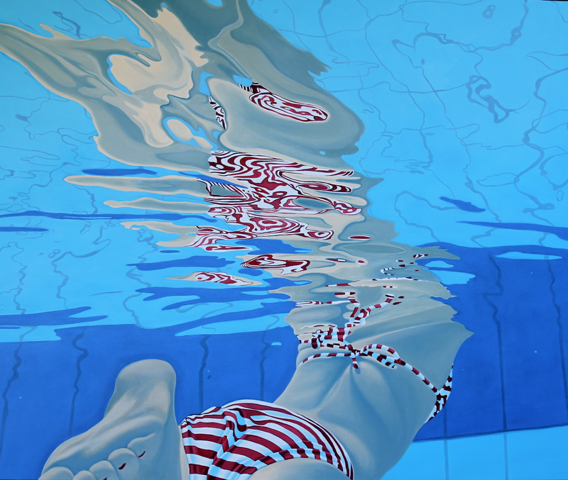 (CreativeWork) Above and Below by Margaret Ingles. Oil Paint. Shop online at Bluethumb.