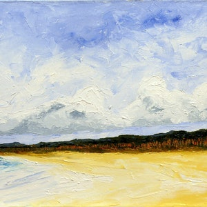 (CreativeWork) Beach Horizons by scott jackson. oil-painting. Shop online at Bluethumb.