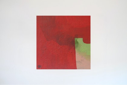 (CreativeWork) Pink, Red and Green by Jessica Knight Locke. arcylic-painting. Shop online at Bluethumb.