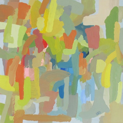 (CreativeWork) Abstract Landscape by Jessica Knight Locke. arcylic-painting. Shop online at Bluethumb.