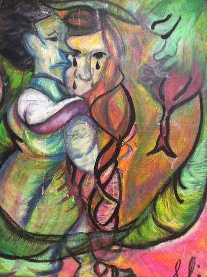 (CreativeWork) Lovers and another  by a lia. mixed-media. Shop online at Bluethumb.