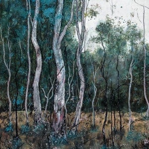 (CreativeWork) DAWN IN THE WOODS by Vanessa Mae. mixed-media. Shop online at Bluethumb.