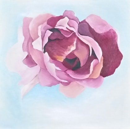 (CreativeWork) Rose by Zoe Greentree. arcylic-painting. Shop online at Bluethumb.
