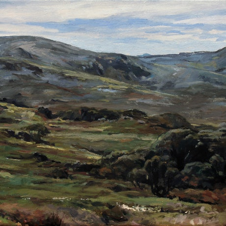 (CreativeWork) Mt Kosciuszko No3 by Peter Roccella. Oil Paint. Shop online at Bluethumb.