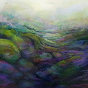 (CreativeWork) Elysian Field by Cathy Gilday. arcylic-painting. Shop online at Bluethumb.