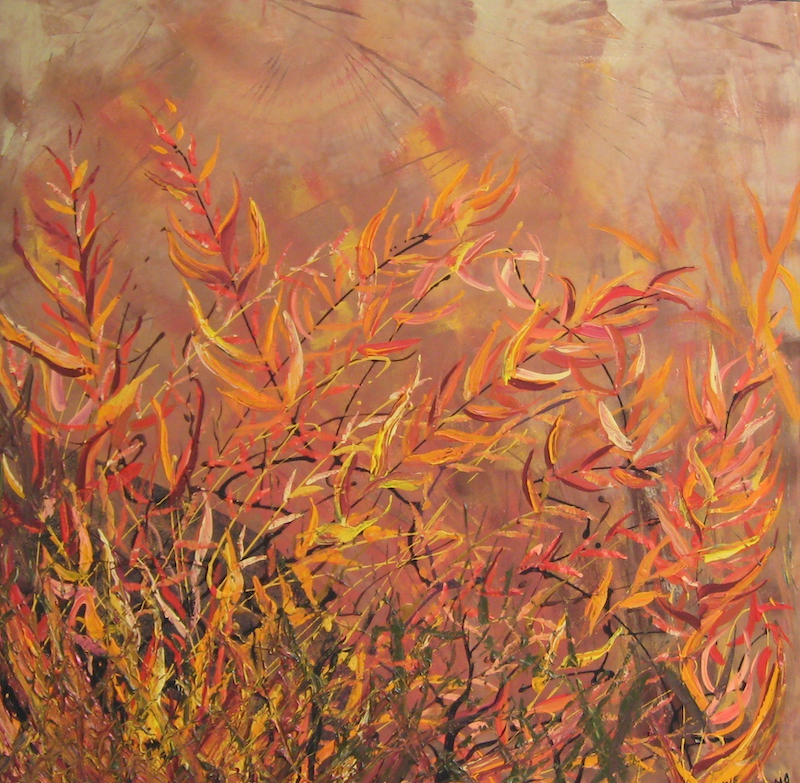 (CreativeWork) ACACIA WILDNESS abstract by Lynne ( Dorothy Lynne) Pickering. arcylic-painting. Shop online at Bluethumb.