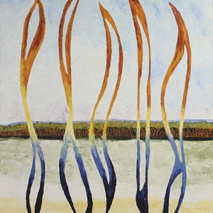 (CreativeWork) Wind Spirits with Landscape by scott jackson. oil-painting. Shop online at Bluethumb.