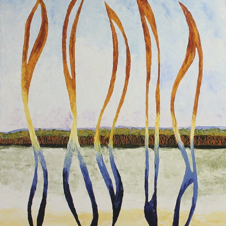(CreativeWork) Wind Spirits with Landscape by Scott Jackson. Oil Paint. Shop online at Bluethumb.