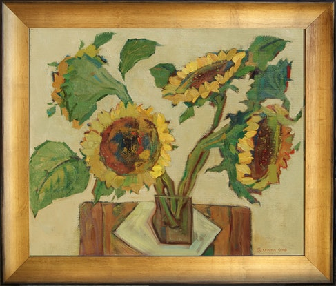 (CreativeWork) Sunflowers by Tetyana Khytko. #<Filter:0x00005597d8829c48>. Shop online at Bluethumb.