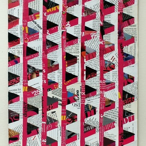 (CreativeWork) hot pink architecture  by Keren Rubinstein. mixed-media. Shop online at Bluethumb.