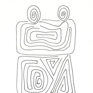 (CreativeWork) Coexist by Ozlem Yeni. drawing. Shop online at Bluethumb.