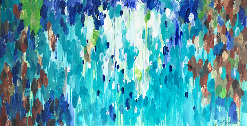 (CreativeWork) COMMISSIONED Late tide by Tatiana Georgieva. arcylic-painting. Shop online at Bluethumb.