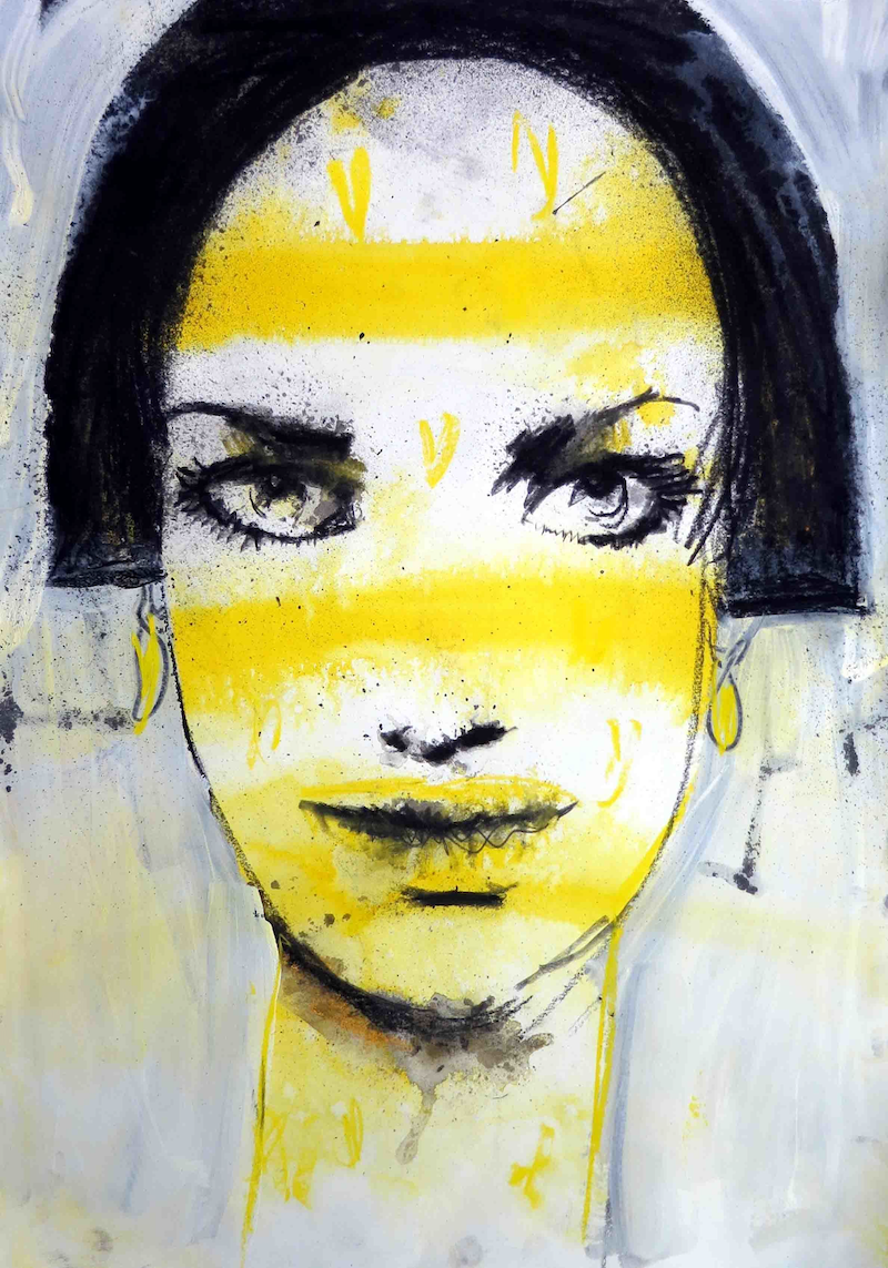 (CreativeWork) portrait of a lady number 4 by John Graham. mixed-media. Shop online at Bluethumb.