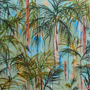 (CreativeWork) Rainforest Solitude by Jazmin Wilkins. acrylic-painting. Shop online at Bluethumb.