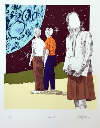 (CreativeWork) 'Space Kids' Ed. 2 of 5 by P. James Bryans. Print. Shop online at Bluethumb.