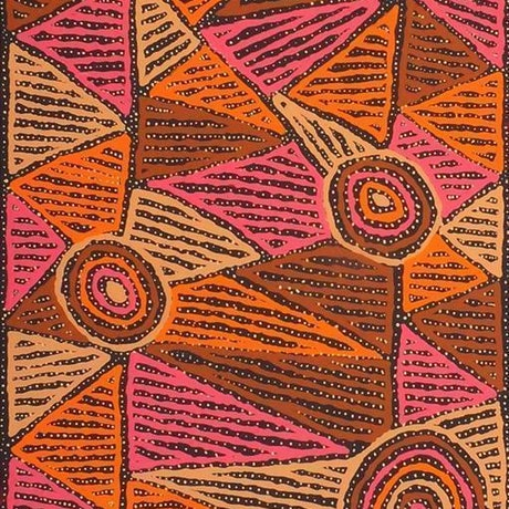 (CreativeWork) Mina Mina Jukurrpa (Mina Mina Dreaming) - Ngalyipi, 226/15ny by Pauline Napangardi Gallagher. Acrylic Paint. Shop online at Bluethumb.