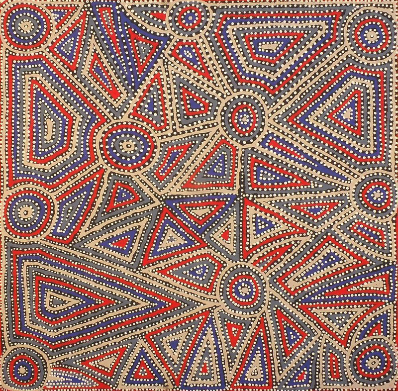(CreativeWork) Mina Mina Jukurrpa (Mina Mina Dreaming) - Ngalyipi, 198/15ny by Pauline Napangardi Gallagher. Acrylic Paint. Shop online at Bluethumb.