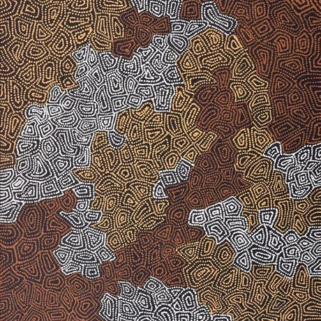 (CreativeWork) Ngapa Jukurrpa (Water Dreaming) - Puyurru 1829/16 by Shanna Napanangka Williams. Acrylic Paint. Shop online at Bluethumb.