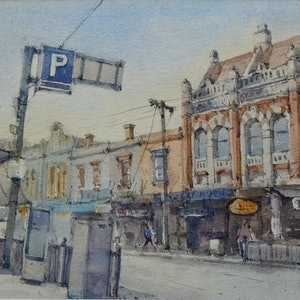 (CreativeWork) Opposite Winsor Station by Natthapol Chaiyatam. watercolour. Shop online at Bluethumb.