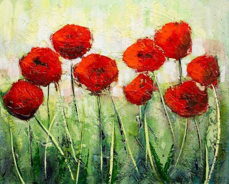 Beautiful poppies by john taylor paintings for sale bluethumb shop online at creativework beautiful poppies by john taylor arcylic painting shop online at mightylinksfo
