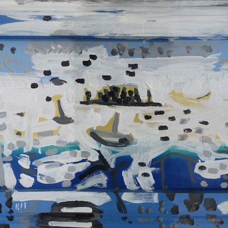 (CreativeWork) Sunny Sunday on the Bay by John Douglas. Acrylic Paint. Shop online at Bluethumb.