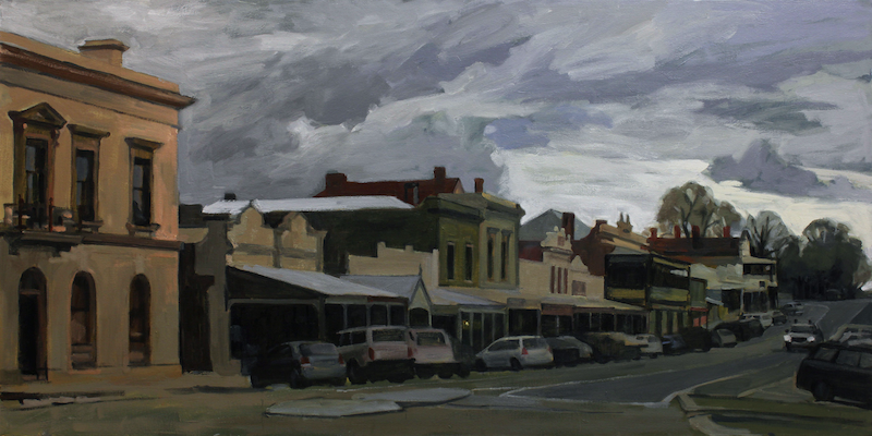 (CreativeWork) Beechworth by Peter Roccella. oil-painting. Shop online at Bluethumb.