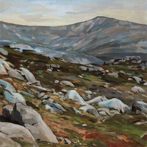 (CreativeWork) Mt Kosciuszko No2 by Peter Roccella. oil-painting. Shop online at Bluethumb.