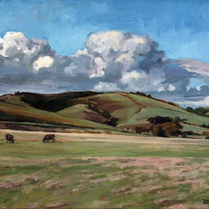 (CreativeWork) Johanna Hills by Peter Roccella. oil-painting. Shop online at Bluethumb.
